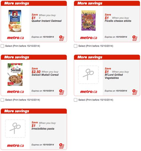 printable grocery coupons quebec metro quebec printable store coupons october 9 15