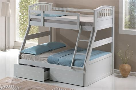 white company bunk beds barbican white 3 sleeper bunk bed hardwood the artisan