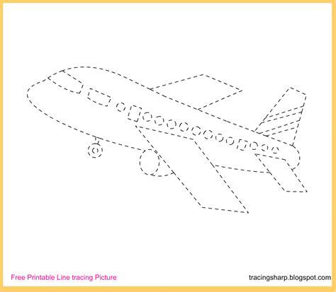printable tracing images free tracing line printable aeroplane tracing picture