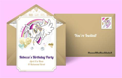 invitation card design online free free my little pony invitations my little pony online