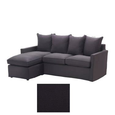 dark grey sofa slipcover ikea harnosand 2 seat loveseat sofa with chaise slipcover