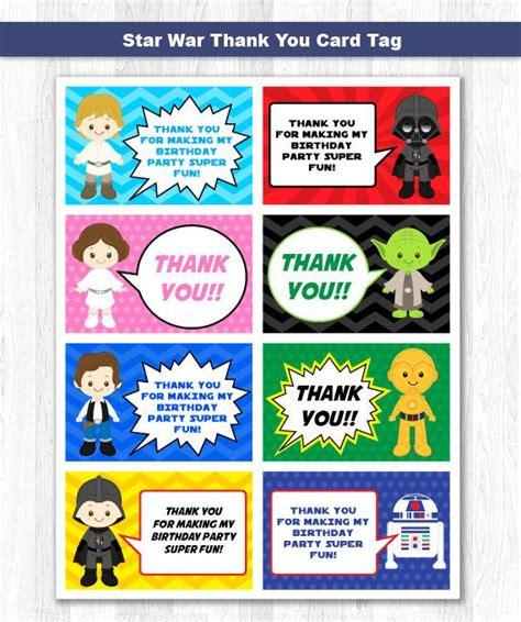 printable thank you tags star wars 1000 ideas about thank you labels on pinterest girl