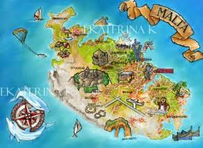 Malta island traveller s map