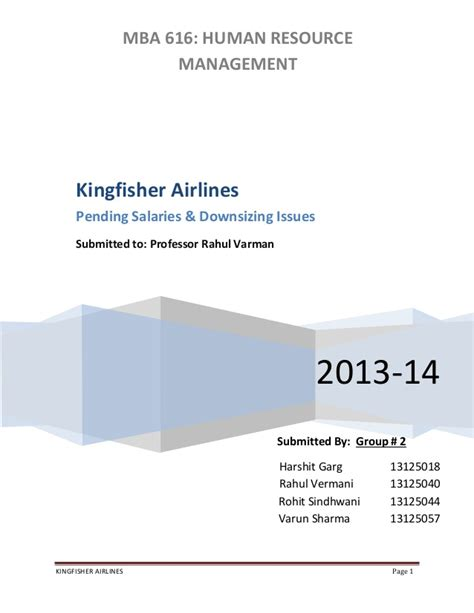 Mba In Airline Management Salary by Kingfisher Airlines Pending Salaries Downsizing Issues