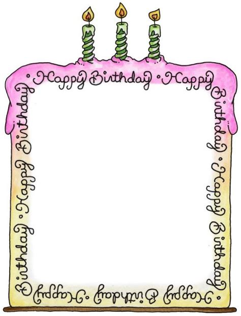 984 Best Images About Borders Frames Stationary Tags Free Printable Birthday Borders And Frames