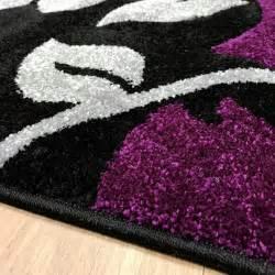 modern purple rugs new black silver purple grey flowers modern contemporary floor rug 160x230cm ebay