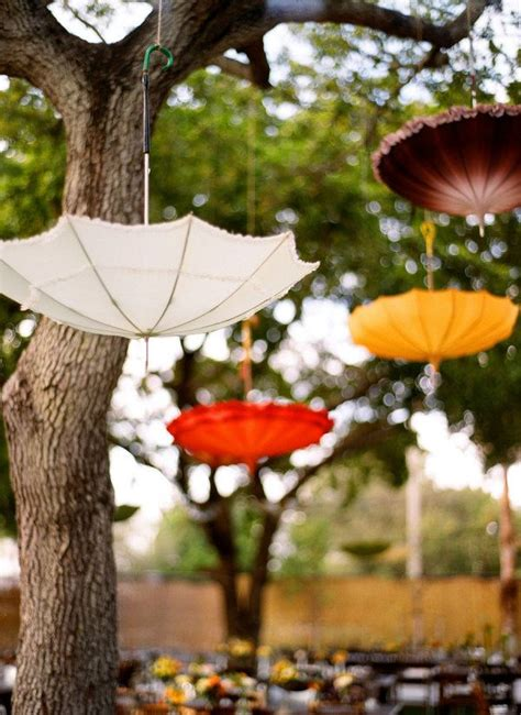 Umbrella Garden Decoration by 53 Best Hanging Wedding Decorations Images On
