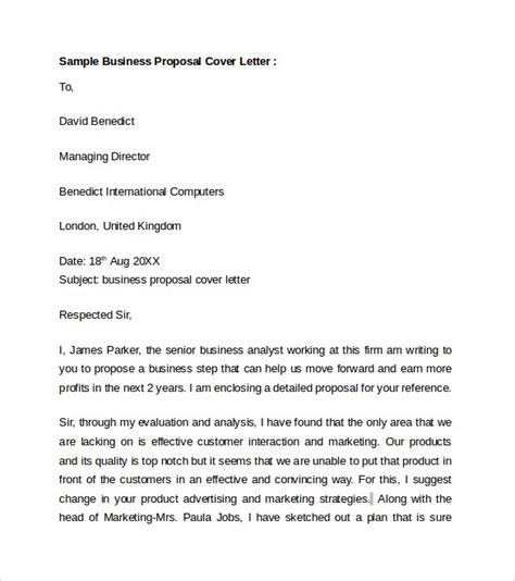 Insurance Bid Letter Business Cover Letter 8 Free Sles Exles Format