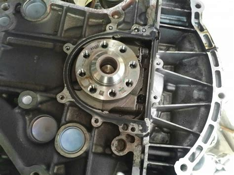 replace  rear main seal  removing  transmission
