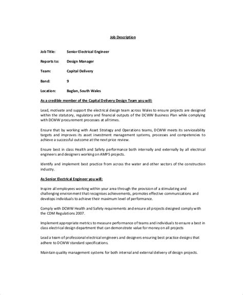 electrician job description 9 free pdf word dowload