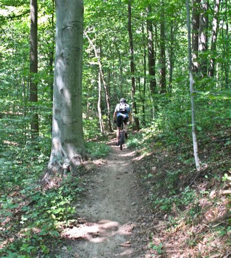 rosaryville state park mountain bike trail maps md