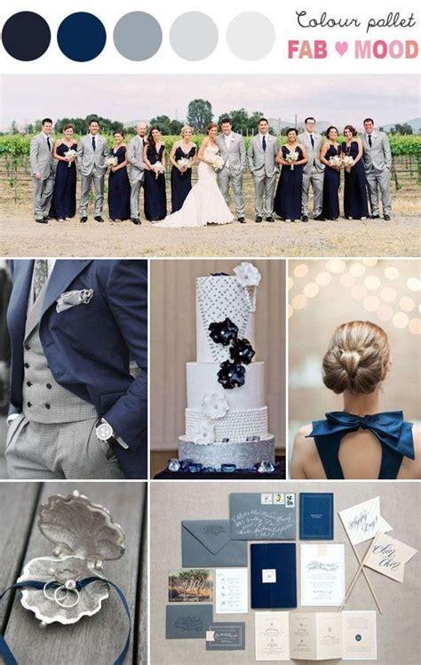 tischdeko navy navy blue silver inspiration board wedding color