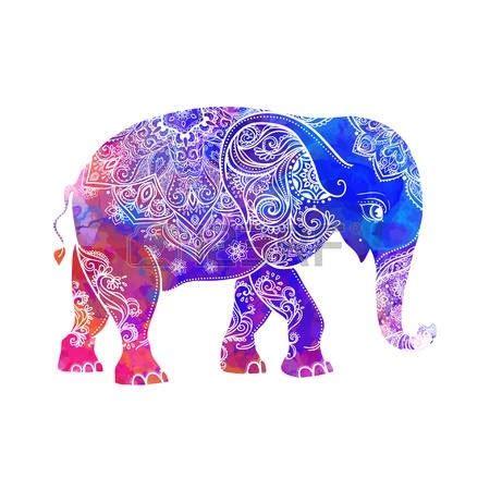 colorful elephant colorful elephant design
