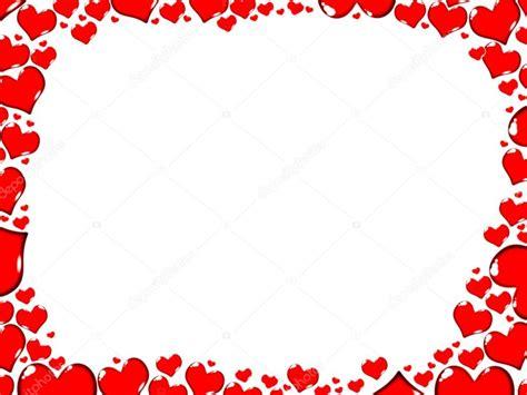 cornici cuori rosso cuori confine cornice carta illustrazione