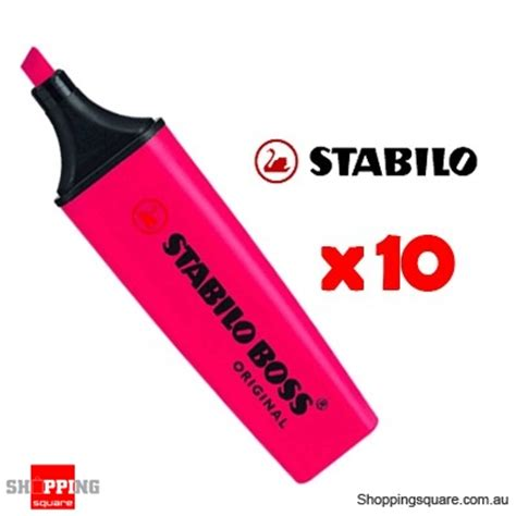 stabilo plus highlighters pink pk 10 shopping shopping square au