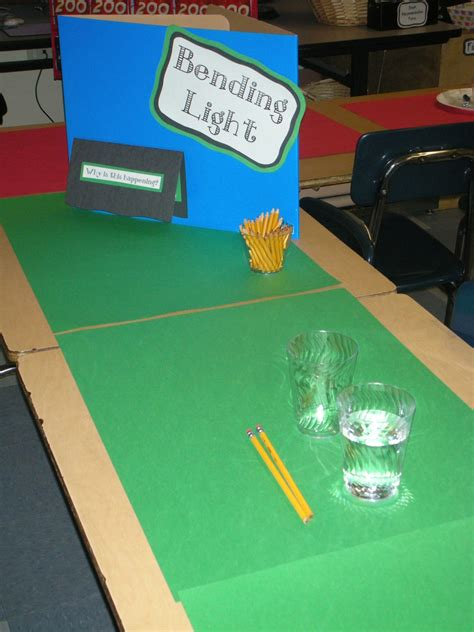 science project on light light refraction independent experiments