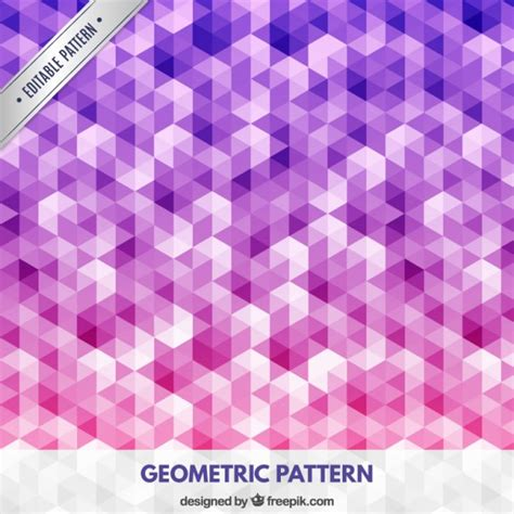 pattern geometric pink geometric pattern in pink and purple tones vector