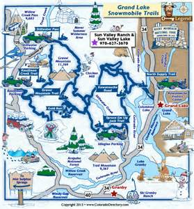 map of grand lake colorado grand lake snowmobile trails map colorado vacation directory