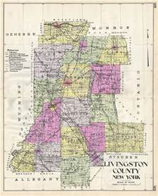 livingston county new york geographicus antique maps