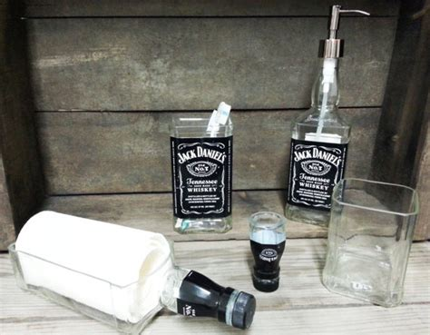 jack daniels home decor repurposed jack daniel s bathroom set 5 pieces by