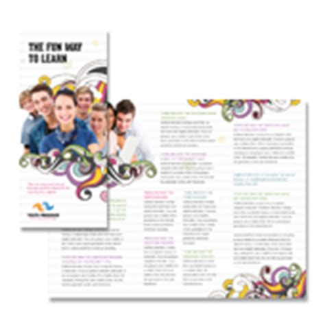 youth education program tri fold brochure template