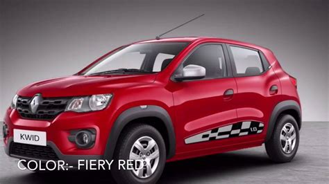 renault kwid red colour renault kwid colors in india youtube