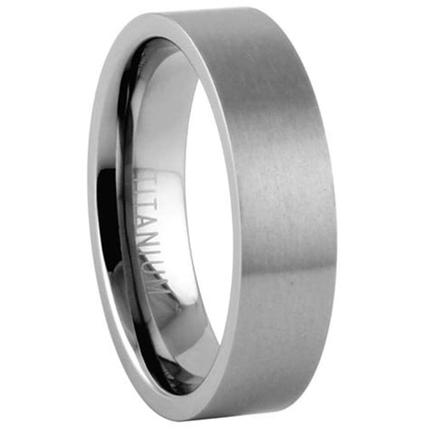 comfort fit titanium wedding bands titanium wedding band comfort fit ring 6mm width by usajewelry
