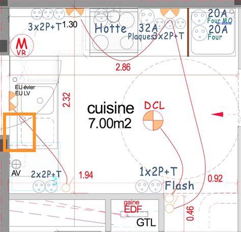 position de la prise 233 lectrique du lave vaisselle sur un