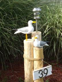 solar lights at walmart nautical lawn piling with seagulls solar light and