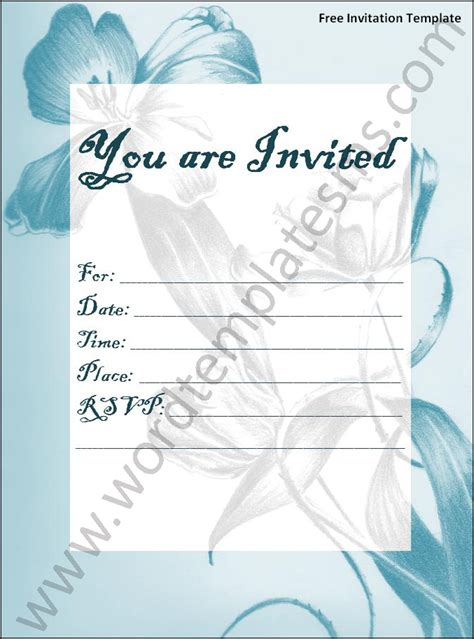 Invitation Template Word Cyberuse Microsoft Invitations Templates Free