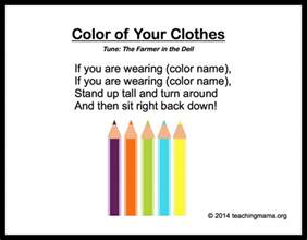 songs with a color in the title 10 preschool songs about colors