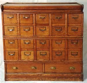 Index Card File Cabinet 224 Oak Index Card File Cabinet Lot 224
