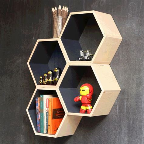 Rak Buku Hexagonal the most amazing hexagon shelf ideas for your home