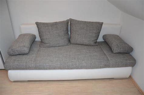 schlafcouch gebraucht kaufen bequeme schlafcouch wei 223 grau neuwertig 140x200cm in
