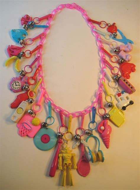 20 best images about 80s charm necklace on