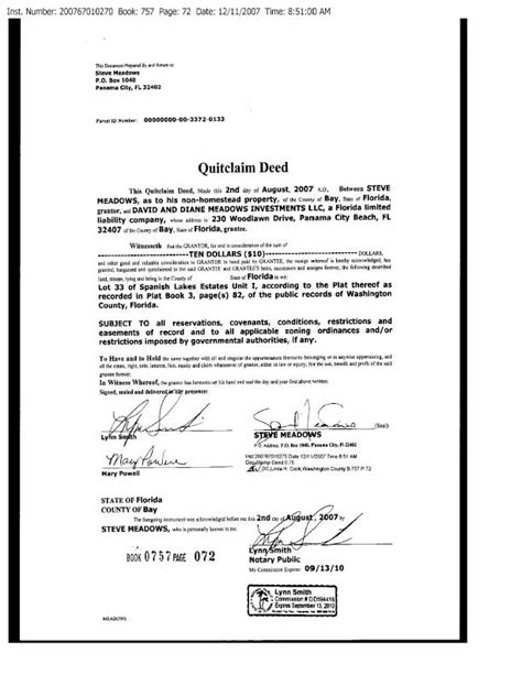 florida quit claim deed form template best photos of florida quitclaim deed exle florida