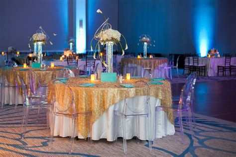 gold event themes aqua and gold party inspiration
