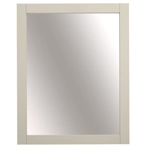 cream bathroom mirror shop allen roth brisette 24 in w x 30 in h cream