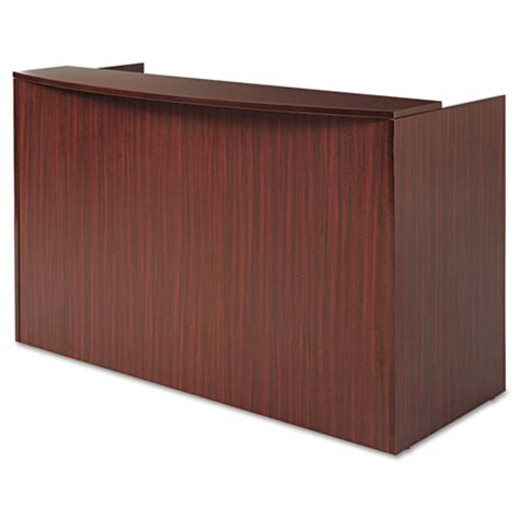 Alera Va327236my Valencia Series Reception Desk With Reception Desk With Transaction Counter