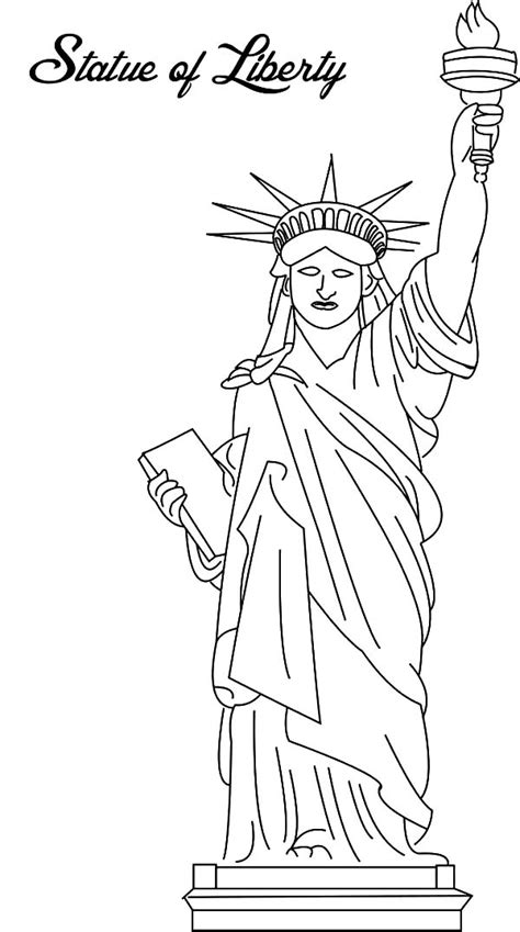 statue of liberty coloring page picture of statue of liberty coloring page