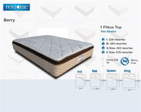 colchon de cama colchon individual anti acaros y no vuelta cama restonic