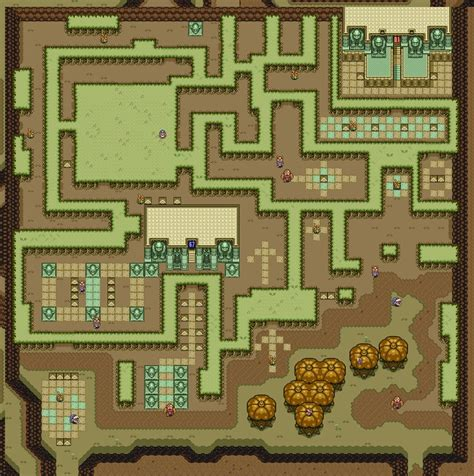 legend of zelda map maze zelda link to the past snes dark world minecraft project