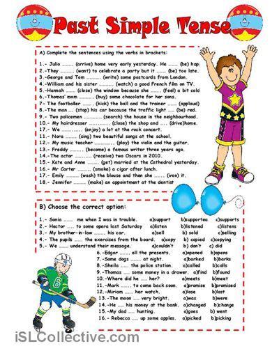 printable games for past tense past simple tense worksheet free esl printable