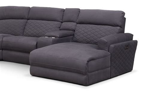 power reclining sectional sofa with chaise catalina 6 piece power reclining sectional with right