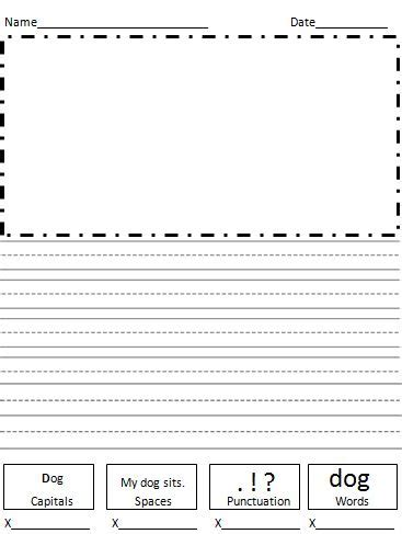 kindergarten writing paper with picture box free printable kindergarten writing paper with picture box