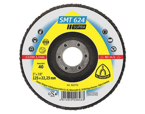 Flap Disc Klingspor Smt 624 klingspor 322771 disc 5x7 8 smt624 36 smt 624
