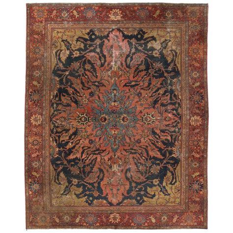 industrial mats rugs antique farahan rug with modern industrial style area rug for sale at 1stdibs