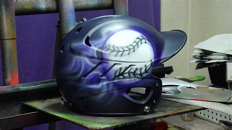 design baseball helmet airbrushed baseball helmet time lapse youtube
