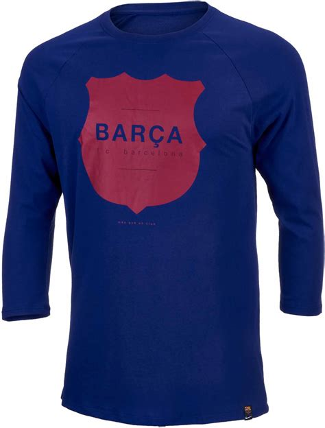 nike barcelona raglan 3 4 sleeve royal blue