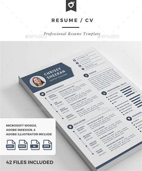 Adobe Indesign Resume Template by 10 All Time Best Premium Simple Infographic Resume Cv